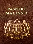 Malaysian passport Stock Photos