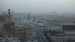 Qatar, Doha Corniche, Spiral Mosque, Souq Waqif, Old Marketplace, Amiri Diwan Stock Footage