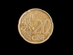 Stock Photo of euro coin