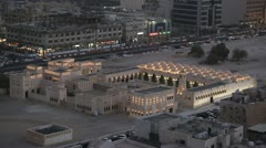 Old Marketplace, Amiri Diwan, Souq Waqif, Qatar, Doha Corniche, Spiral Mosque Stock Footage