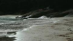 Waves breaking on beach Stock Footage