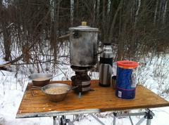 Winter Camping Stock Photos