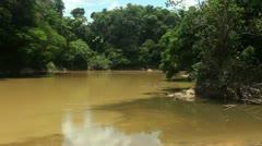 Rio Cononaco, deep in the rainforest in Ecuador Stock Footage