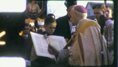 ALTAR BOY Catholic Priest Mass 1960  Vintage 8mm Film Home Movie 5494 - stock footage