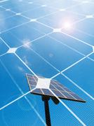 solar energy concept - stock photo