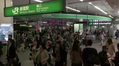 Shinjuku Station South Gate Stock Footage