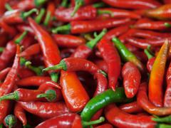 Stock Photo of red chili peppers