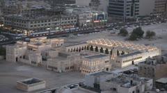 Souq Waqif, Old Marketplace, Amiri Diwan, Qatar, Doha Corniche, Spiral Mosque Stock Footage