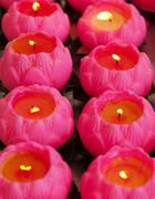 pink candles - stock photo