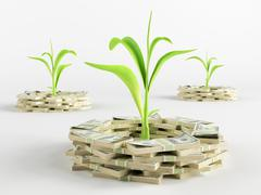 Money germ Stock Illustration