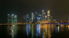 Timelapse - Singapore Marina Bay City Skyline Stock Footage
