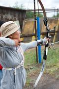 Archery coaching Stock Photos
