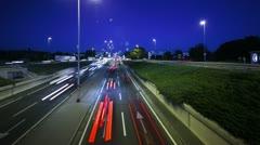 Auton ajo kaupungin yöllä Viivästys Apple ProRes Arkistovideo