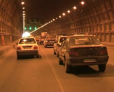 Iran  30  tehran road. tunnel Stock Footage
