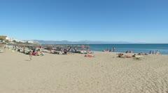 Torremolinos Beach 1 Stock Footage