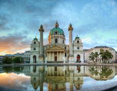 karlskirche in vienna, austria - stock photo