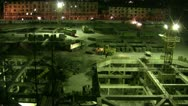 Stock Video Footage of Construction site by night