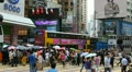 Causeway Bay, Hong Kong Crowds Rush Hour Crowded Street, Car, Bus Traffic HD Footage