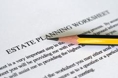 Estate plan sheet Stock Photos