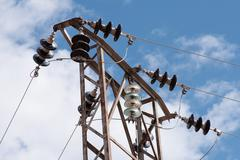tower of electricity - stock photo