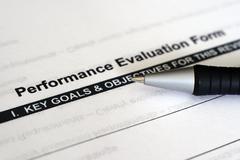 Performance evaluation form Stock Photos