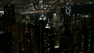 Timelapse Fast motion of Symphony of Lights, Hong Kong, China Stock Footage