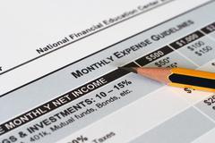 monthly spending plan - stock photo