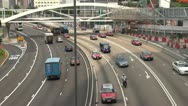 Fast motion of Heavy traffic in Hong Kong, China Stock Footage