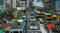 Shopping Area, Crowded Street, Hong Kong Crowds Rush Hour Car, Bus Traffic HD Footage