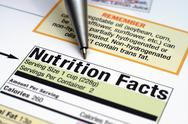 Stock Photo of nutrition facts