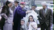 GIRL PROUD FAMILY Communion 1960 (Vintage Old Film Home Movie) 5116 Stock Footage