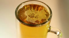 Beer Drink Macro Closeup - stock footage