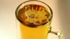 Beer Mug Macro Shot Closeup Stock Footage