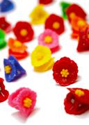 several plastic hairpins - stock photo