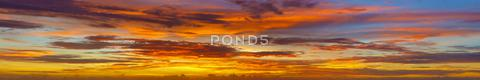 Stock photo of panoramic photos of sky at sunset - thailand