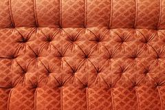 Red antique furniture upholstery - background Stock Photos