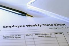 employee time sheet - stock photo