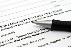 Loan application form Stock Photos