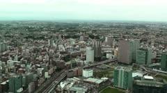 Yokohama Aerial Japan Stock Footage