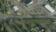 Aerial View of Sounder Train at Rail Station Stock Footage