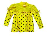 Stock Photo of yellow blouse with polka dots for baby