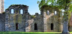abbey ruins villers la ville - stock photo