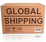 Global shipping Stock Photos