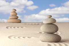 spirituality and balance - stock photo