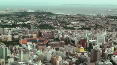 Yokohama Aerial Japan Stock Footage