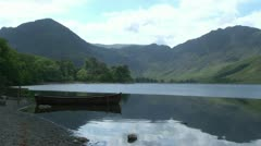 Lake District Moored Rowing Boat Stock Footage