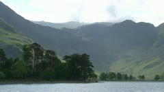 Lake Buttermere Mountains Stock Footage