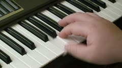 Playing piano keyboard 1 Stock Footage
