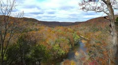 Green River at Mammoth Cave National Park 1 HD In Autumn Stock Footage