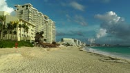 Stock Video Footage of Cancun Beach Mexico